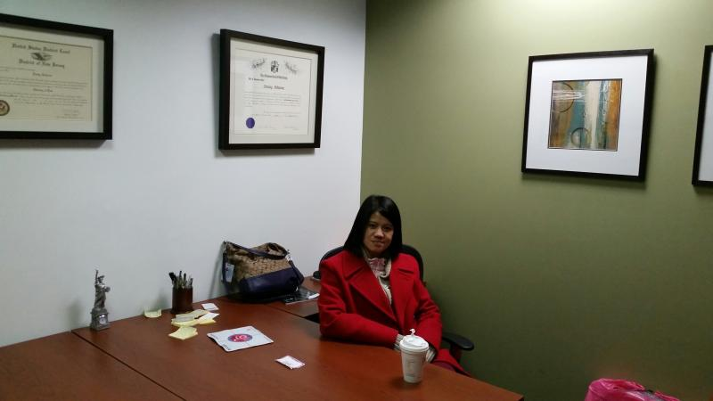 Edna Sandi Johnson in Her Law Office